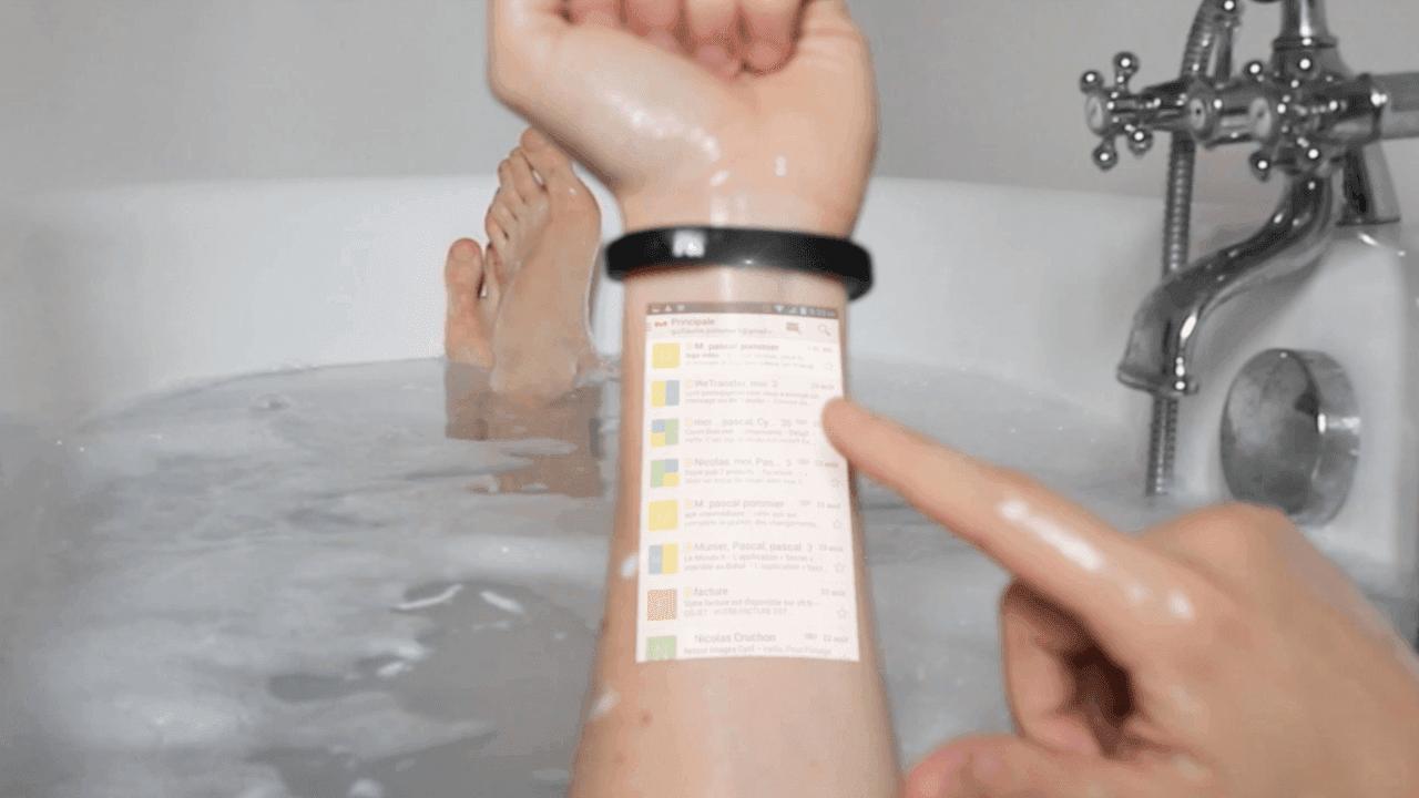 blick in die zukunft das cicret bracelet soll unsere handgelenke zum tablet machen android. Black Bedroom Furniture Sets. Home Design Ideas