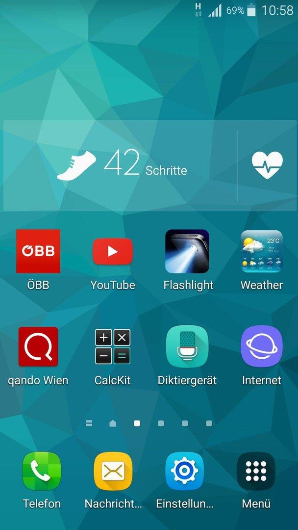 Samsung S 5 Samsung Health Schrittzähler Einstellungen Samsung S