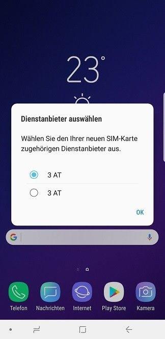 Sim Karte Nicht Zulässig.Samsung Galaxy S9 Sim Karten Dienstanbieter Problem Samsung
