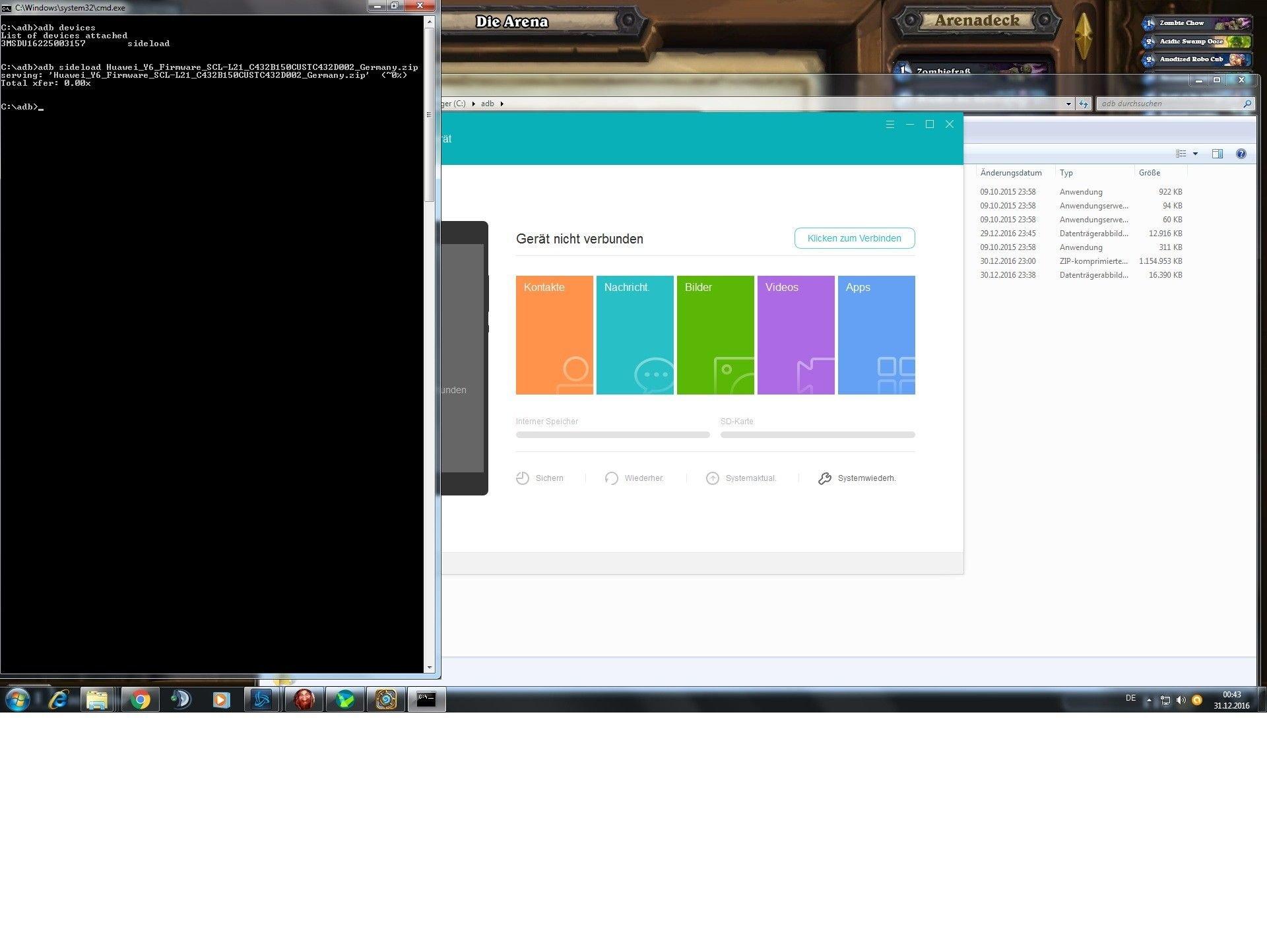 Neues OS aufspielen - Root / Custom-ROMs / Modding für Huawei Y6
