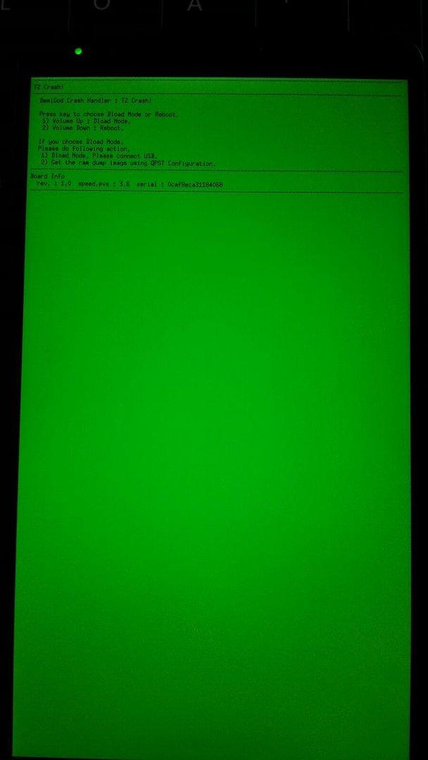 TZ Crash! Green/Blue Screen - LG G3 (D855) Forum – Android-Hilfe de