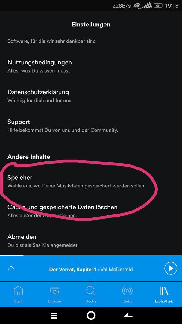 spotify auf sd karte verschieben Spotify auf SD Karte   Huawei Mate 9 Forum – Android Hilfe.de