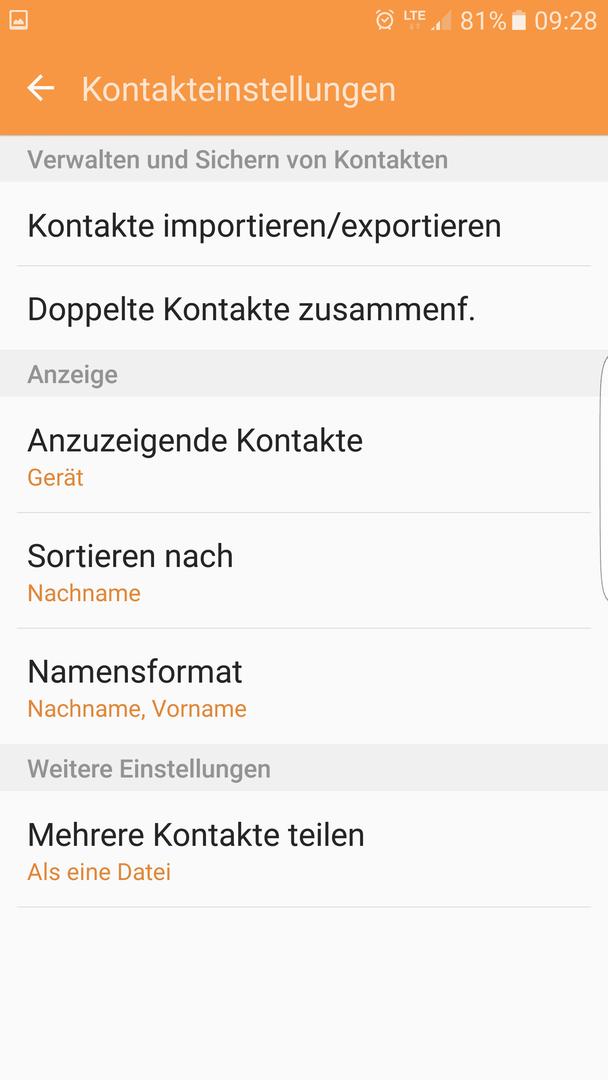 Kontakte Nach Nachnamen Sortieren Kontakte Android Hilfe De