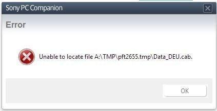 Compangnion lässt sich nicht installieren - Sony PC