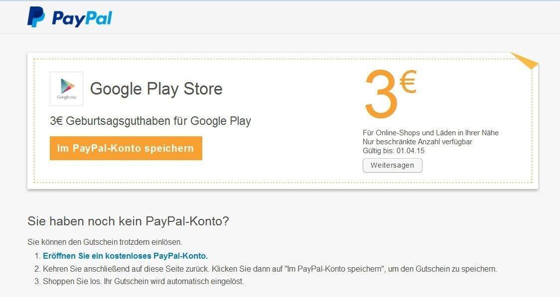 paypal 10 euro gutschein