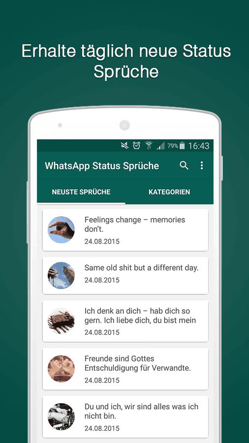 Sprüche für whatsapp status kostenlos
