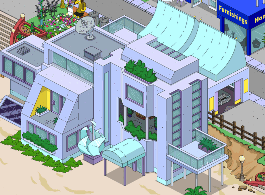 Villa moderne les simpson for Les villa moderne