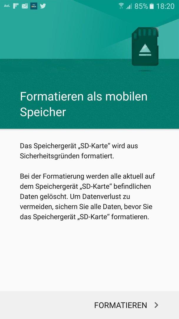 Samsung Galaxy A5 2016 128 Gb Microsd Karte Als Internen