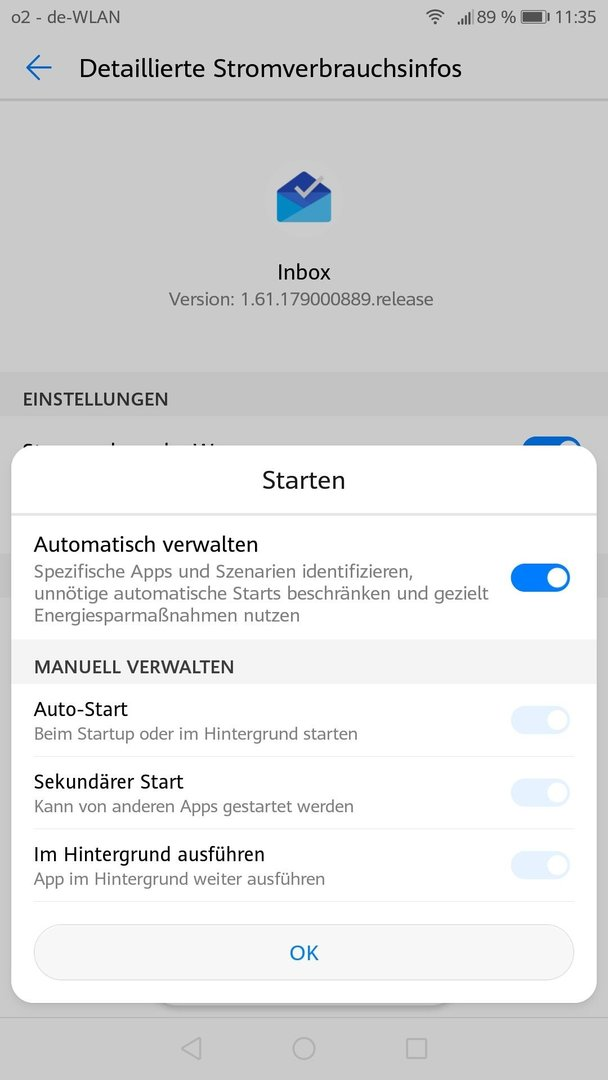 Android apps starten automatisch im hintergrund
