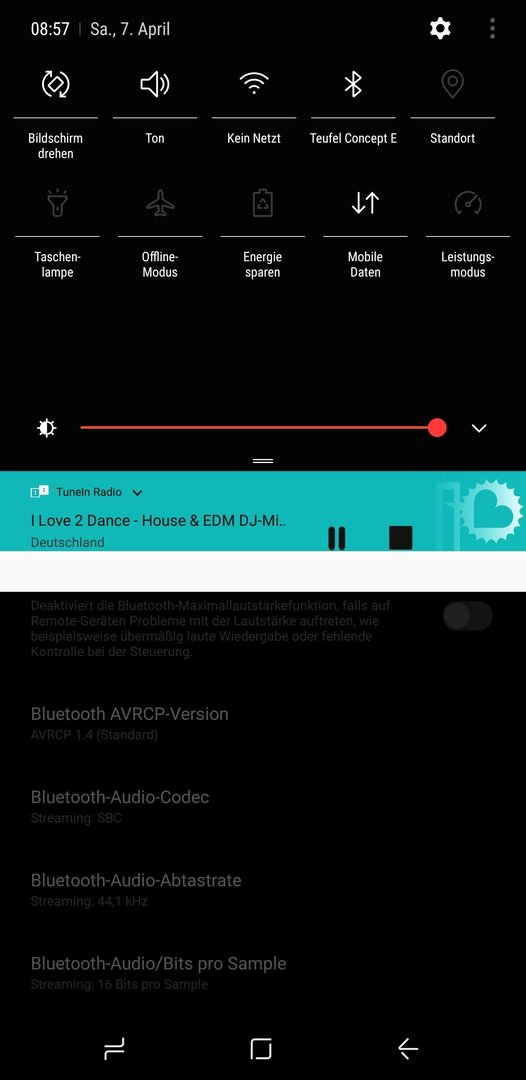 Audio-Codec dauerhaft auf aptX stellen? - Samsung Galaxy S9
