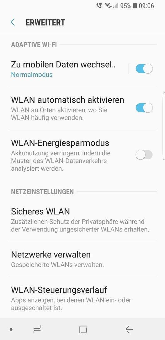 Galaxy S7 S8 S9 Wlan Symbol Und Mobilfunknetz Symbol Gleichzeitig