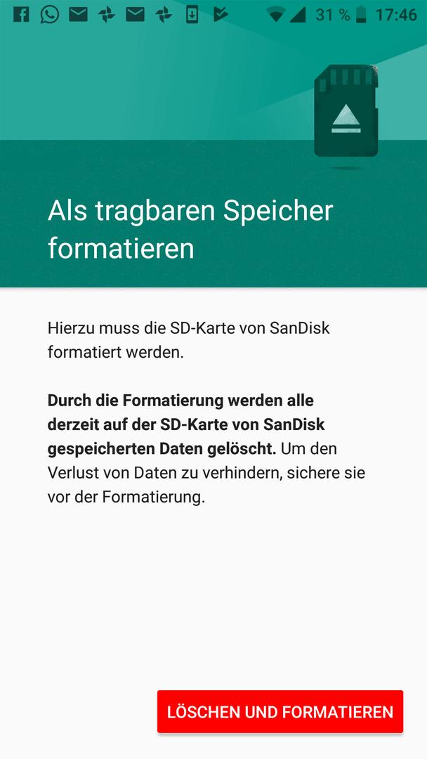 Sd Karte Formatieren Android.Sd Karte Nur Als Mobiler Speicher Htc U11 Life Forum Android
