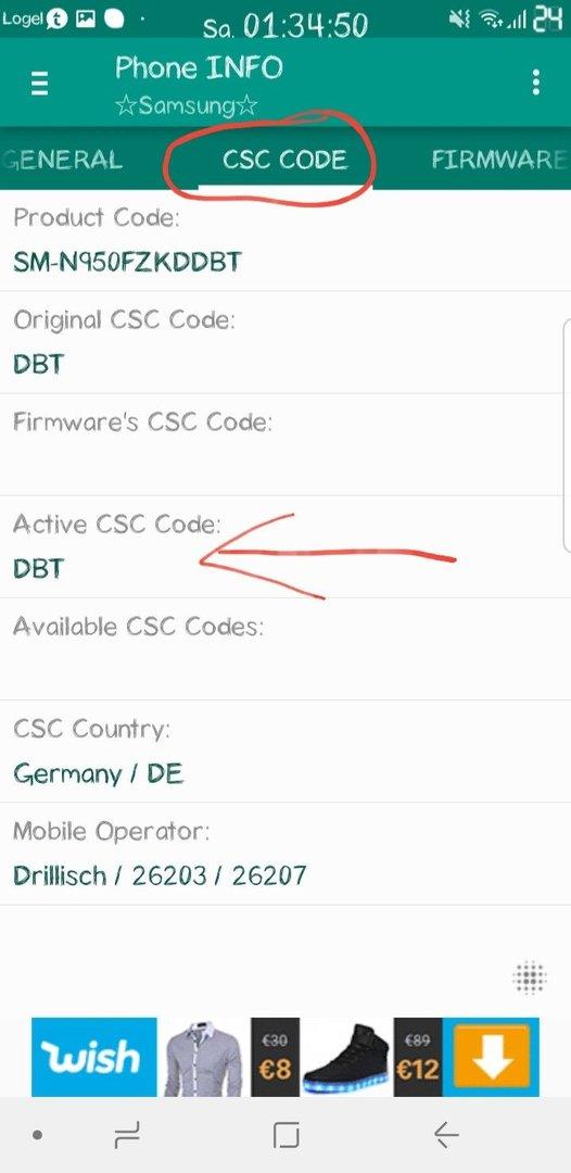 Csc Code Samsung