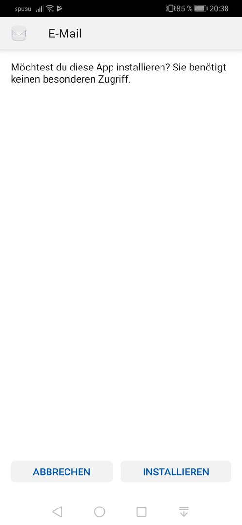 Huawei e-Mail-App neu installieren - Huawei Apps und Dienste