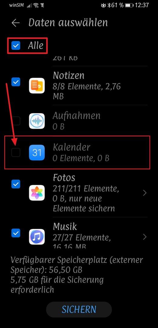 1 2 3 4 Lösung Beim Huawei P40 Lite Ohne Gms Werden Im Business Calender 2 Nur 2 Von 5 Kalendern Angezeigt Android Hilfe De