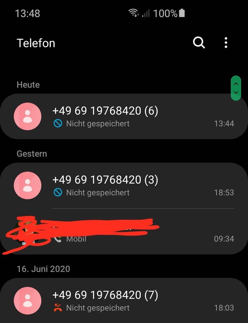 Trotz blockierung anrufen Telefonnummern blockieren