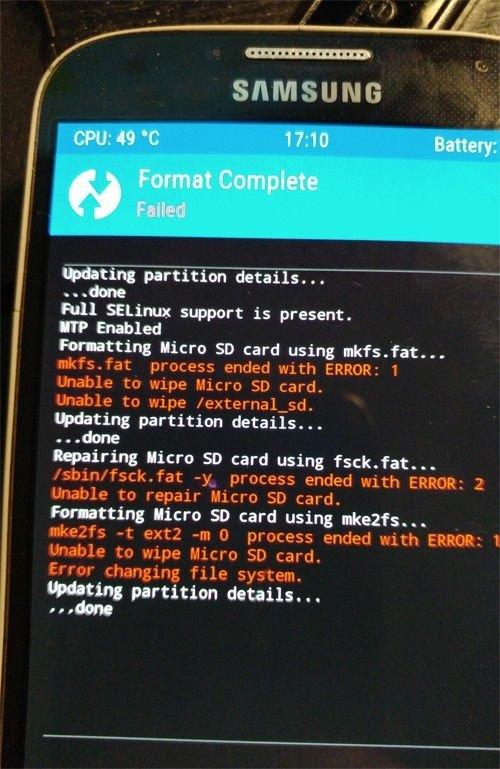 kein zugriff auf sd karte android TWRP   SD Karte nach abgebrochener Formatierung kein Zugriff