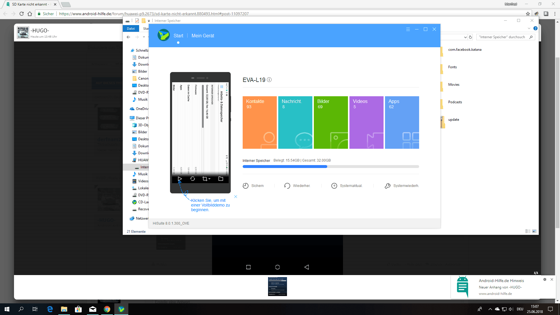 Sd Karte Wird Nicht Erkannt Pc.Sd Karte Nicht Erkannt Huawei P9 Forum Android Hilfe De