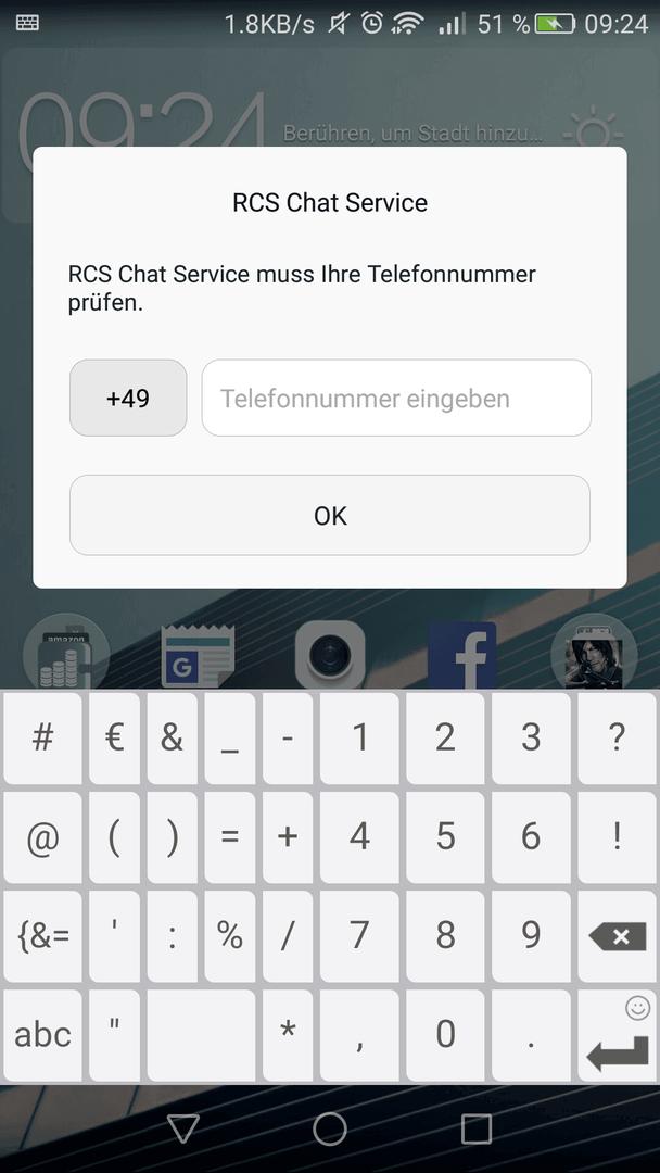 Huawei P8: RS Chat Service deaktivieren (Vodafone Update) - Original
