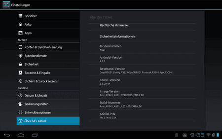how to update firmware on acer a500 tablet