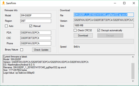 G920F][Stock ROM] *11 03 2016* G920FXXU3DPCA [6 0 1] - DBT