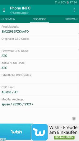 Frage wegen CSC Anzeige - Samsung Galaxy S7 Edge (G935F
