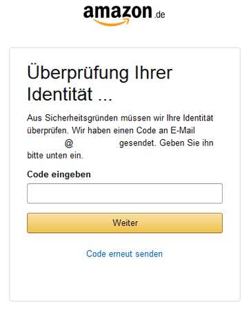 Sicherheitsabfrage Amazon