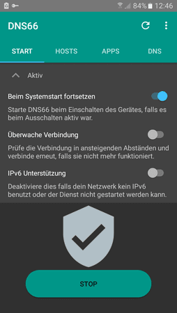 DNS66 Werbe/host-Blocker ab Android 5 x (benötigt kein root