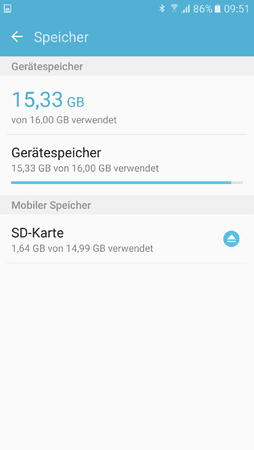 S5 Gerätespeicher Voll