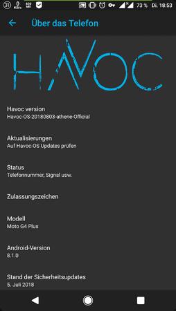 ROM][8 1 0][Moto G4 (Plus)] Havoc-OS - Custom-ROMs für Moto G4 Plus
