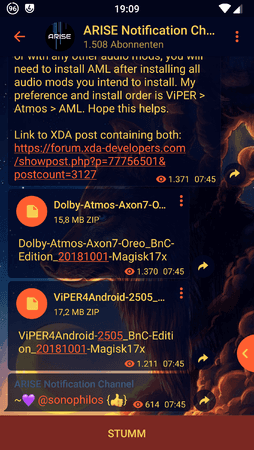Anleitung - [DolbyAtmos+Viper4Android][Treble/Magisk/TWRP