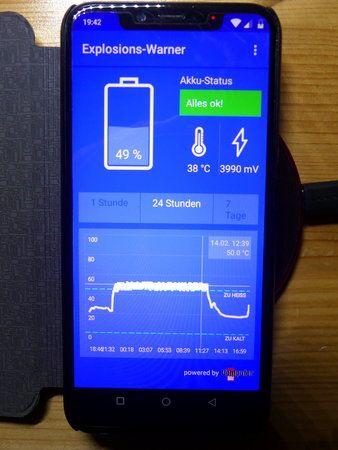 02 - UMIDIGI OnePro - Hitzeentwicklung -14.02.19 20.43 Uhr.JPG