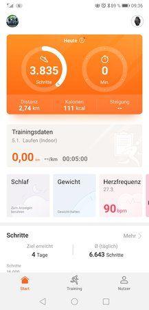 Synchronisation von Fitnessdaten zwischen Watch 2,P20pro