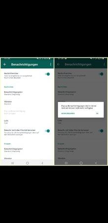 Pop Up Benachrichtigungen Whatsapp Android
