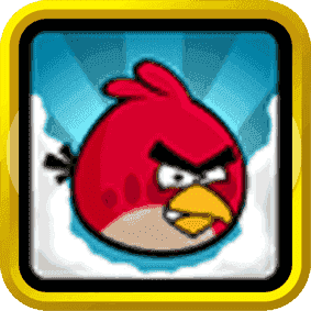Angry Birds Schwarz Gold Quadrat.png